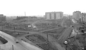Kuva 5: Kaleva vuonna 1958. (Lähde: Liisan kallion rakentaminen, http://www15.uta.fi/koskivoimaa/kaupunki/1940-60/XX.htm)